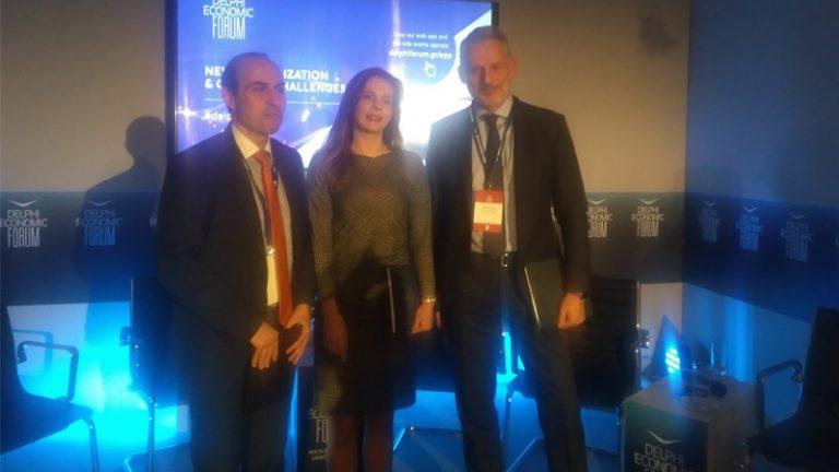 Μαζαράκης, Πολιτοπούλου, Σαρρηγεωργίου στο 3ο Delphi Economic Forum